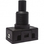Interruptor de botão preto sem chapeu 027527