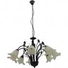 Ceiling Lamp GRASSE 8xE14 H.Reg.xD.80cm Brown