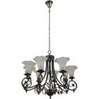 Ceiling Lamp MONZA 8xE14 H.Reg.xD.76cm Antique Brass