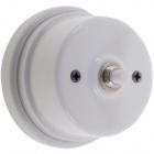 Push button 2A 250V D.80xA.50mm porcelain white