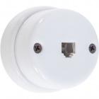 Telephone Socket 6/4c porcelain white