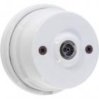 TV socket porcelain white