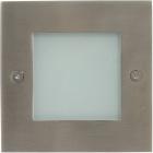 Downlight NIX square IP44 60x3,7W LED 3000K L.10,5xW.10,5xH.0,2cm Stainless Steel