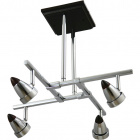 Ceiling Lamp TIAGO 4xGU10 L.48xW.48xH.44cm Wengue/Chrome