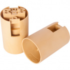 Gold E14 2-pieces lampholder with plain outer shell, in thermoplastic resin