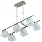 Ceiling Lamp AUGUSTA 6xG9 L.49,5xW.20xH.Reg.cm Satin Nickel