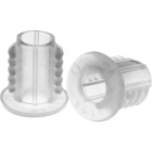 Isolador de tubo dentado transparente 034026