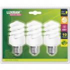 Light Bulb 3x E27 (thick) Spiral EXTRA MINI SUPREME 15W 2700K 878lm -A