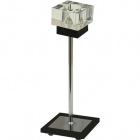 Table Lamp MARA 1xG9 L.11xW.11xH.30cm Wengue/Chrome