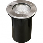 Ground Recessed Lamp BIGORNE round IP65 1xGU10 H.0,4xD.11cm Satin Nickel