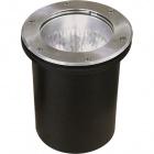 Ground Recessed Lamp BIGORNE round IP65 1xE27 H.0,5xD.21cm Satin Nickel