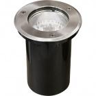 Ground Recessed Lamp BIGORNE round IP65 1xE27 H.0,4xD.15cm Satin Nickel