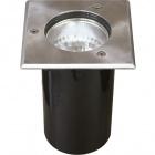 Ground Recessed Lamp BIGORNE square IP65 1xE27 L.15xW.15xH.0,5cm Satin Nickel