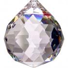 Crystal end stone D.7cm transparent