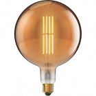 Light Bulb E27 (thick) Globe CLASSIC DECOLED Dimmable D200 8W 1800K 630lm Amber-A+