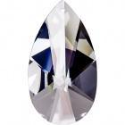 Crystal pearshape stone 10,1x5,5cm 1 hole transparent