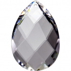 Crystal pearshape stone 5x3,1cm 1 hole transparent