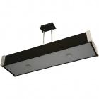 Ceiling Lamp MARILENE rectangular 4xE27 L.79xW.21xH.Reg.cm Wengue