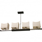 Ceiling Lamp JACINTA 4xE14 L.89xW.12xH.Reg.cm Wengue/Beije