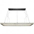 Ceiling Lamp VARSÓVIA 1x68W LED 5400lm L.120xW.30xH.Reg.cm Transparent/Chrome
