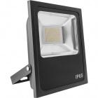 Floodlight TRENT IP65 1x100W LED 5000lm 3000K 120° L.29,5xW.7xH.0,375cm Black