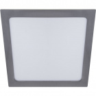 Downlight FRANCO square 1x24W LED 1560lm 4000K 120° L.29,7xW.29,7xH.0,2cm Satin Nickel