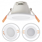 Downlight XELIM round IP65 1x5W LED 350lm 3000K 120° H.0,25xD.9cm White