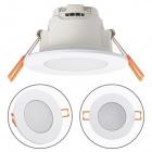 Downlight XELIM round IP65 1x5W LED 350lm 6500K 120° H.0,25xD.9cm White