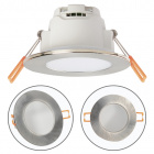 Downlight XELIM round IP65 1x5W LED 350lm 4000K 120° H.0,25xD.9cm Satin Nickel