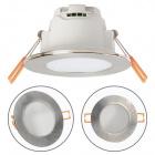 Downlight XELIM round IP65 1x5W LED 350lm 6500K 120° H.0,25xD.9cm Satin Nickel