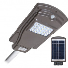 Solar Wall Lamp STREET with sensor IP65 1x20W LED 450lm 6000K L.20,5xW.40xH.6cm Grey