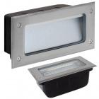 Recessed Wall Lamp MURDOCH IP65 1x5W LED 300lm 4000K 90° L.19xW.7,5xH.9cm Stainless Steel+PlasticSta