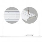 Suspending Light MENDEL rectangular IP65 1x120W LED 5000K 90° L.118xW.10xH.Reg.cm Aluminium