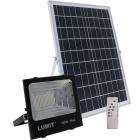Solar Floodlight JUNOT IP66 1x100W LED 1300lm 6500K L.28,5xW.9xH.25cm Black (2cx)