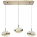 Ceiling Lamp PLANETT 3x8W LED 1800lm 3300K L.48xW.8xH.Reg.cm Champanhe