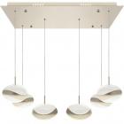 Ceiling Lamp PLANETT 6x8W LED 3600lm 3300K L.65xW.30xH.Reg.cm Champanhe