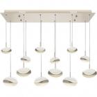 Ceiling Lamp PLANETT 6x5W LED+6x8W LED 5850lm 3300K L.86xW.24xH.Reg.cm Champanhe