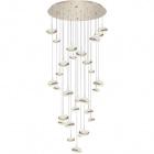 Ceiling Lamp PLANETT 14x5W LED+15x8W LED 14250lm 3300K H.Reg.xD.71cm Champanhe