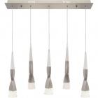Ceiling Lamp METEOR 5x7W LED 2620lm 3300K L.71xW.9xH.Reg.cm Champanhe