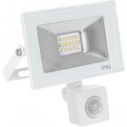 Floodlight KOLYMA with sensor IP44 1x10W LED 500lm 6500K 320°L.11,2xW.5,5xH.13cm White