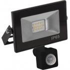 Floodlight KOLYMA with sensor IP44 1x10W LED 500lm 6500K 120°L.11,2xW.5,5xH.13cm Black