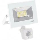 Floodlight KOLYMA with sensor IP44 1x20W LED 1000lm 6500K 120°L.11,5xW.5,5xH.14cm White