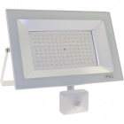 Floodlight KOLYMA with sensor IP44 1x100W LED 5000lm 6500K 120°L.28xW.7xH.25cm White