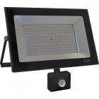Floodlight KOLYMA with sensor IP44 1x100W LED 5000lm 6500K 120°L.28xW.7xH.25cm Black
