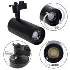 Track Spotlights ARGOS 1x30W LED 6400K L.17xxD.8cm Black