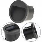 Recessed Wall Lamp MUSTANG round IP54 1x3W LED 105lm 3000K W.7xD.10,5cm Anthracite