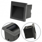 Recessed Wall Lamp MUSTANG IP54 1x3W LED 105lm 3000K L.9xW.1xH.9cm Anthracite