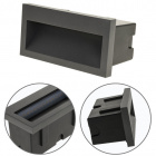 Recessed Wall Lamp MUSTANG rectangular IP54 1x3W LED 50lm 3000K L.14xW.7xH.7cm Anthracite