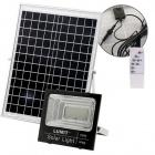 Solar Floodlight NAVARRE IP65 1x50W LED 1600lm 6500K L.23,5xW.7,8xH.21,3cm Black