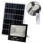 Solar Floodlight NAVARRE IP65 1x100W LED 2400lm 6500K L.28,5xW.9xH.25,5cm Black